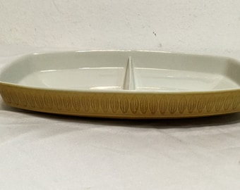 Mid Century Franciscan Topaz Discovery Divided Serving Bowl Interpace