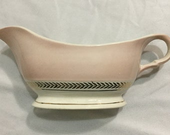 American Limoges Federal Coral Pink Gravy Boat