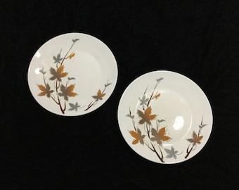 Ironstone Maple Leaves 20152 Japan Dinner Plates Set of 2 Mid century