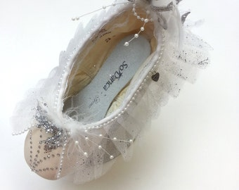 One Ice Queen Hand Made Decorated Pointe Shoe
