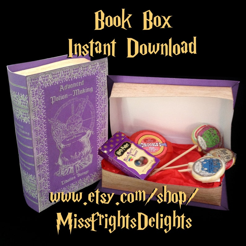 picture about Harry Potter Potions Book Printable named Highly developed Potion Creating Reserve Box Prop - Fast Down load Printable - Harry Potter Celebration Impressed Present Box Spell E book Cosplay Gown Potions