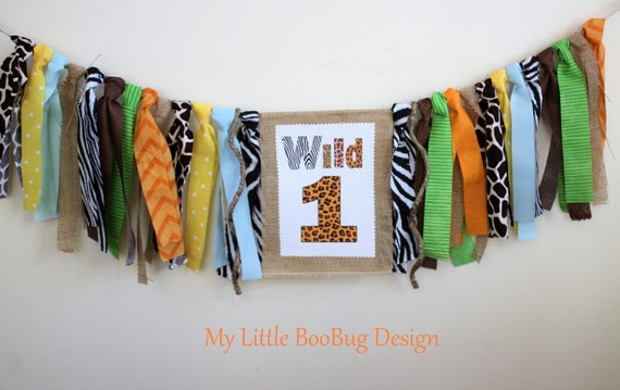 199d41e31 Jungle Safari Zoo 1st Birthday Highchair Banner, 1st birthday boy, 1st  birthday girl, Cake Smash Photo Prop, High chair decor