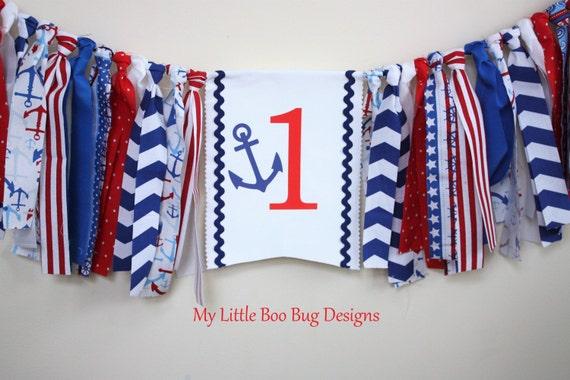 Nautical High Chair Banner