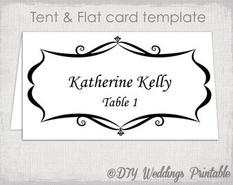 Avery Template Etsy - Avery name tent template