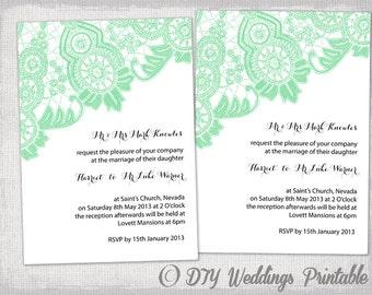 pocket wedding invitation template diy pocketfold wedding etsy
