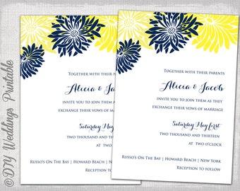 pink wedding invitation template diy printable wedding etsy