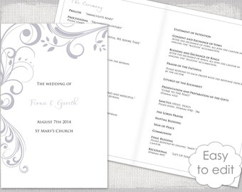 Chalkboard Wedding Program Template Chalk Board Programs Black - Easy wedding program template
