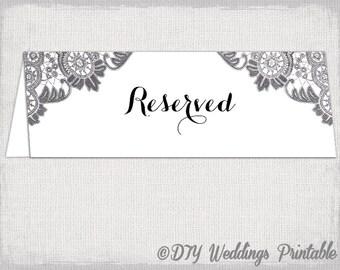 Reserved Card Template Flower Burst Printable Etsy Reserved Card Template  Flower Burst Printable Reserve Sign Wedding