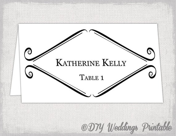 picture regarding Avery Printable Place Cards known as Printable Stage card template Tent marriage ceremony reputation card