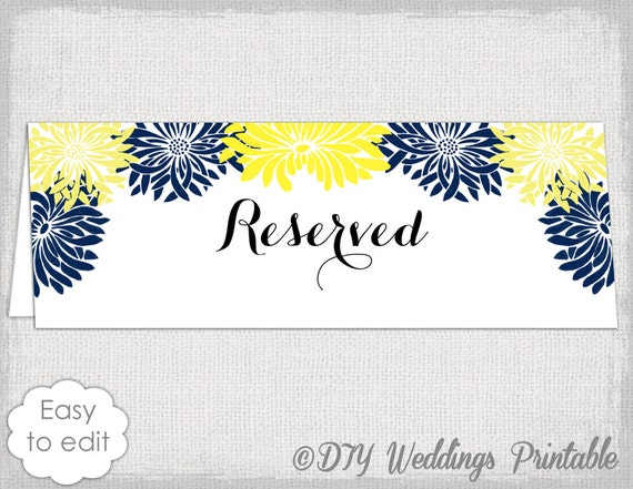Reserved Card Template Flower Burst Printable Etsy