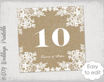 Table Number Template Diy Love Quote Wedding