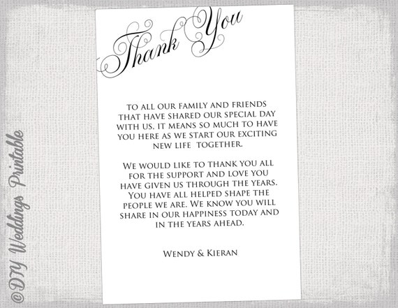 printable thank you card black and white