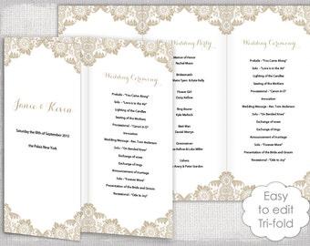 lace wedding program