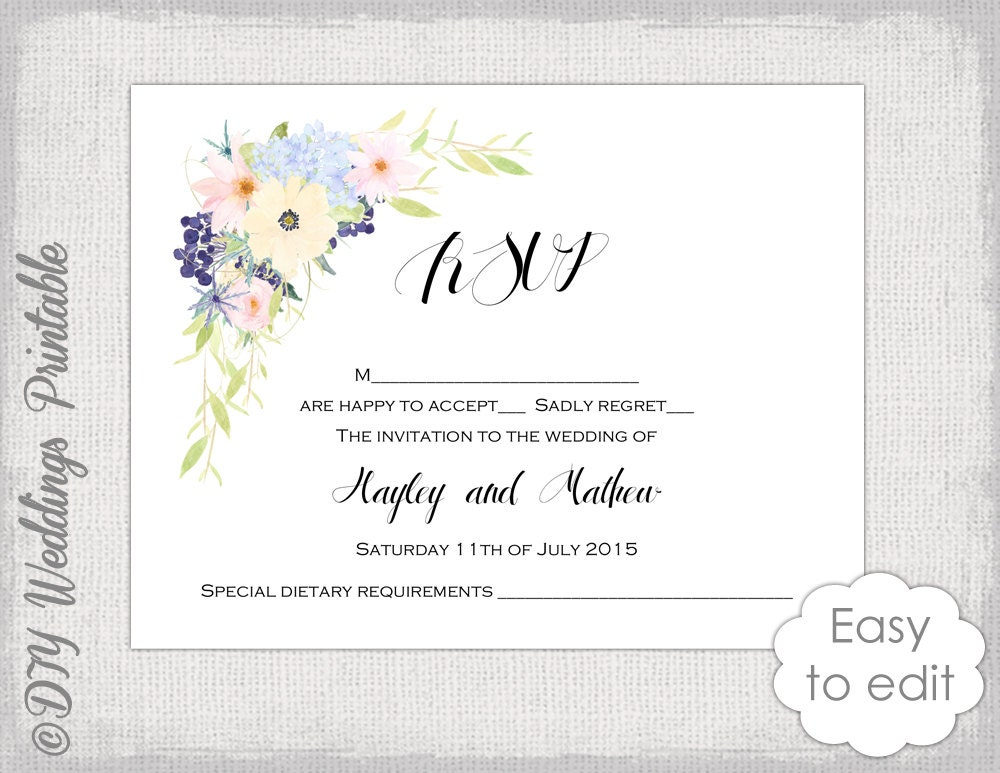 It's just a picture of Handy Free Printable Rsvp Cards