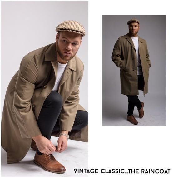 Vintage raincoat, M/L fawn raincoat, Maerain by Ma
