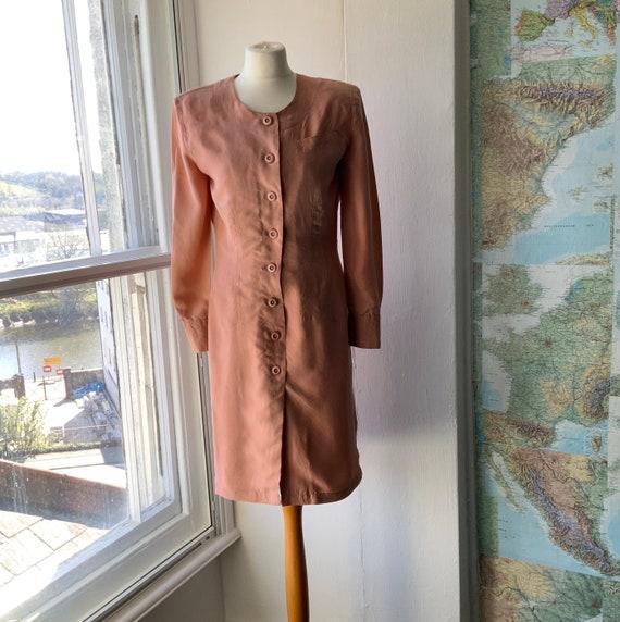 Vintage Betty Barclay 1980s pure silk dress, M.