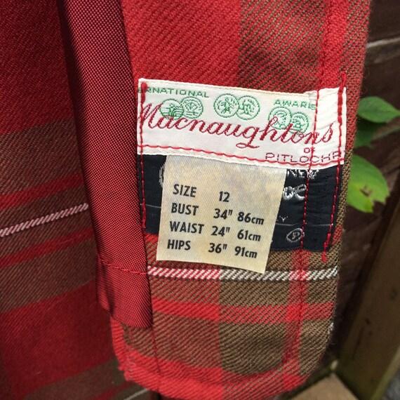 Vintage S/M 60s Scottish tartan two piece - image 3
