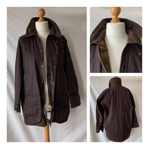 Vintage Barbour Beaufort proofed jacket, brown, cl