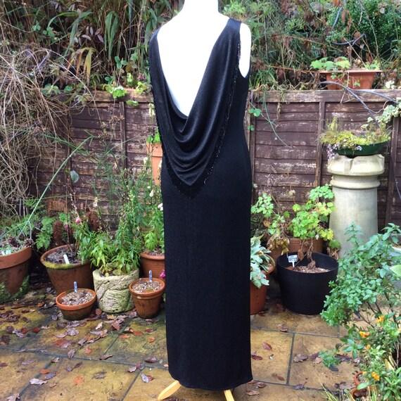 Vintage UK18 US14 EU46 black evening gown, Frank U