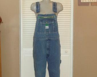 953e3a10ec72 Vintage Liberty Blue Denim Carpenter Bib Overalls~L~