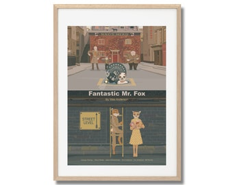 Fantastic Mr. Fox Movie Print - Poster Wes Anderson A3