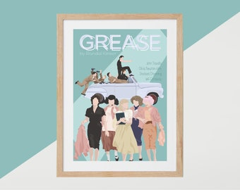 Grease Movie Print - Poster Randal Kleiser A3