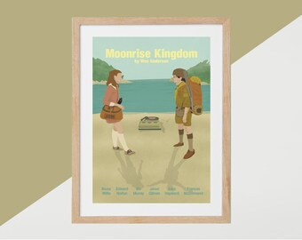 Moonrise Kingdom Movie Print - Poster Wes Anderson A3