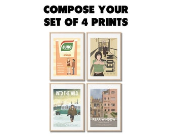 Any 4 you choose IN MY SHOP ! Movie posters - prints set