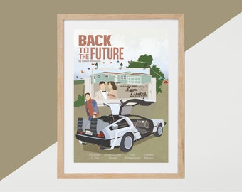 Back to the Future Movie Print - Poster Robert Zemeckis A3