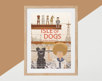 Isle od Dogs Movie Print - Poster Wes Anderson A3