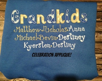 Grandkids Sweatshirt, Grandma Sweatshirt, Grandparent Gift, Mothers Day Gift, Birthday Gift, Nana Sweatshirt