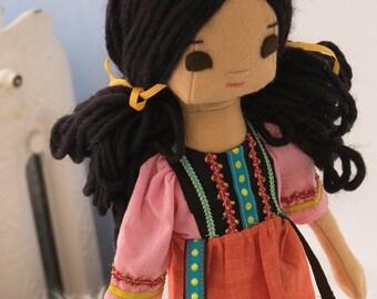 Vietnamese Rag Doll and Wardrobe, Big Sister Doll
