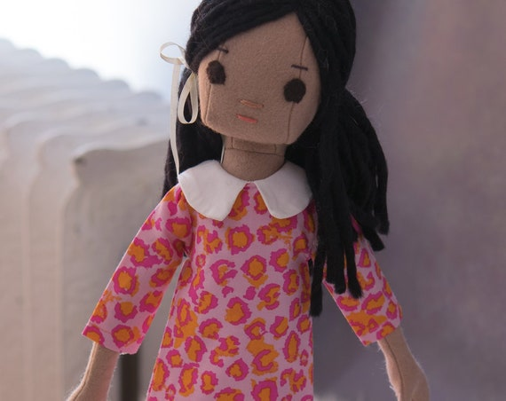 Natural Fiber Rag Doll, 16.5 inches