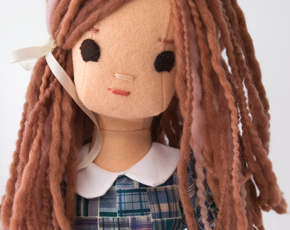 Wool Rag Doll and Doll Dress Pattern