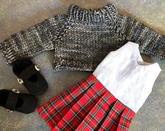 Doll Dress and Sweater Set
