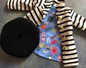 Doll Coat and Beret Set