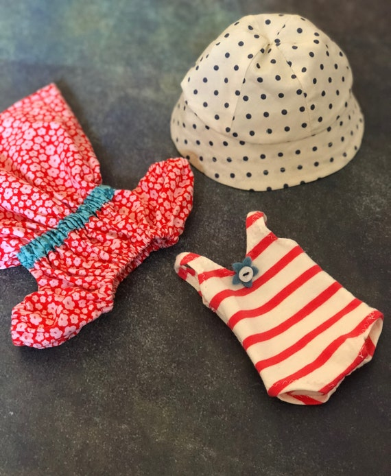 Doll Dress, bathing Suit and Hat