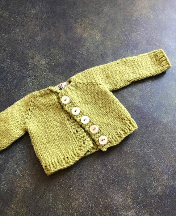 Hand Knit Doll Cardigan for 16 inch Rag Doll