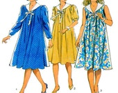Maternity Dress, Style 3848, Sewing Pattern, Long Sleeve, Short Sleeve, Sundress, Button Front, Shawl Collar, Full Sleeve, Size 12-14-16