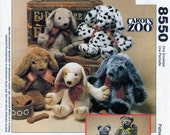 Puppy Dog, Kitty Cat, Soft Stuffed Toy, Sewing Pattern, McCalls 8550, McCalls 631, Carol's Zoo, Learn to Sew, Easy Sew Pattern, Soft Toy