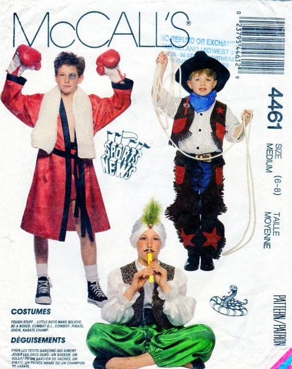 Karate Kid Halloween Costume.Hero Costume Halloween Costume Sewing Pattern Mccalls 4461 204 Boxer Snake Charmer Sultan Cowboy Karate Kid Pirate Gi Joe Army