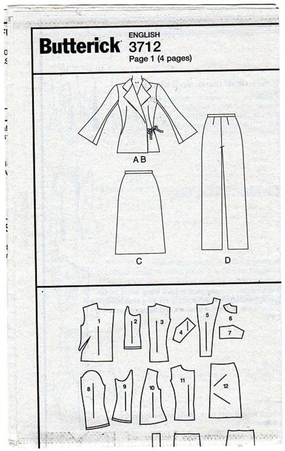 Frauen Anzug Schnittmuster Butt 3712 Wrap vorne Blazer | Etsy