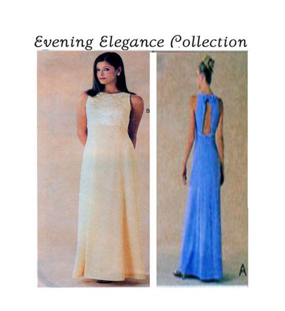 Women Evening Gown Sewing Pattern McCalls 9683 Empire | Etsy
