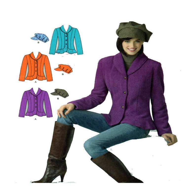 753e99d5db7 Eenvoud 2309 vrouwen Blazer naaien patroon Shawlkraag | Etsy