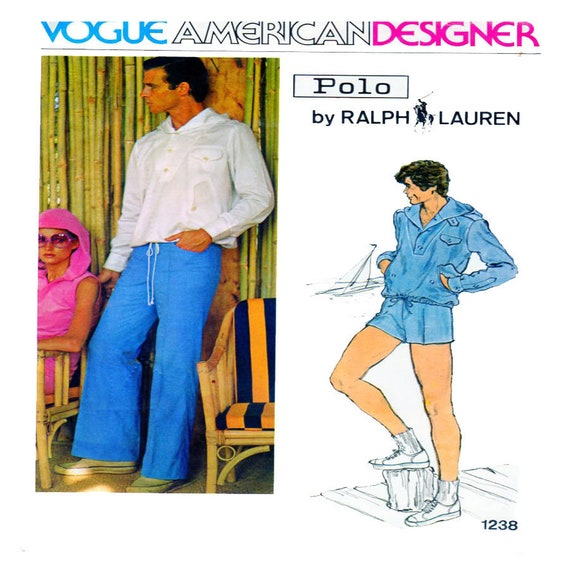 Vogue 1238 Herren Schnittmuster Ralph Lauren Polo Vogue | Etsy