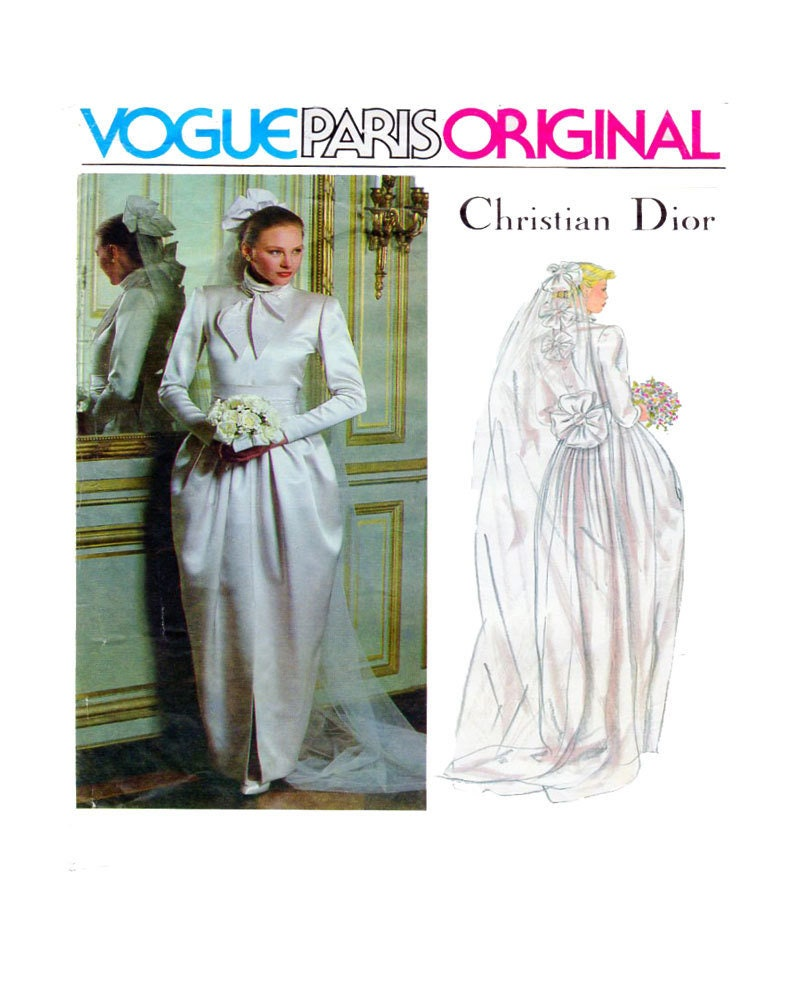 Christian Dior Wedding Gowns: CHRISTIAN DIOR Wedding Gown Sewing Pattern Vogue Paris