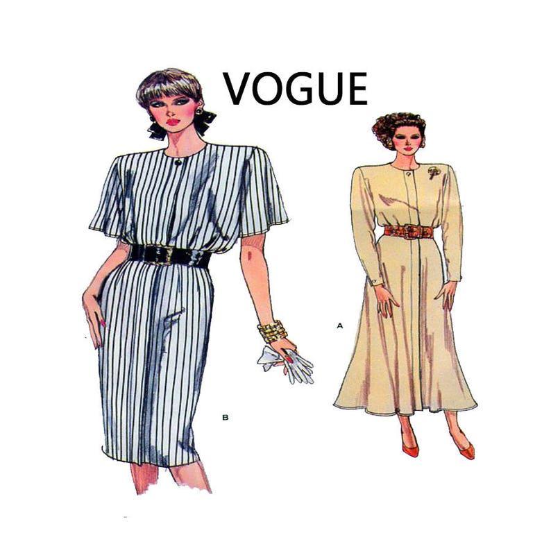 Vogue 9830 Women Dress Sewing Pattern Loose Fit Pencil  efea0861d