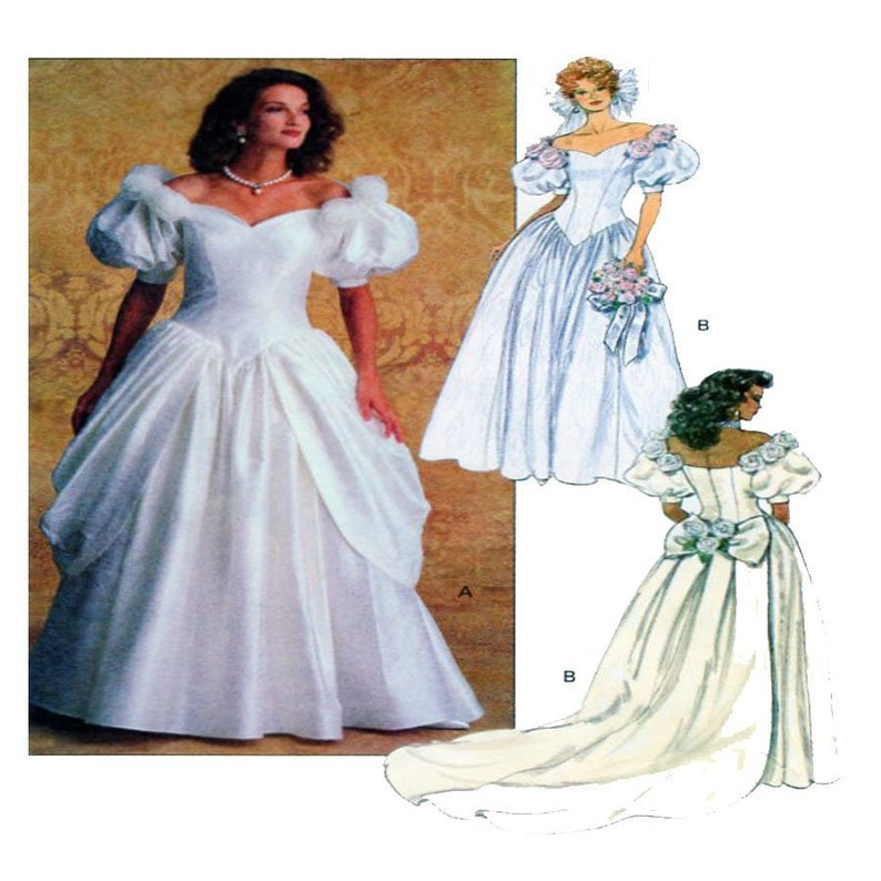 1b6b490bf08 Butterick 6518 Wedding Gown Sewing Pattern Fitted Bodice