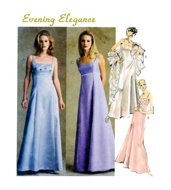 McCalls 2692 Abendkleid Empire-Taille passen Flare Kleid | Etsy