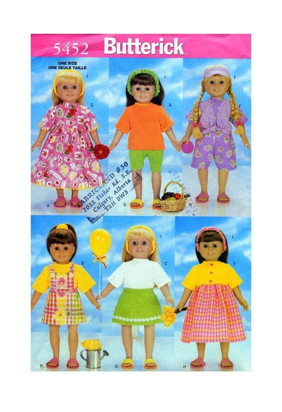 Butterick 5452 Puppe 18 Kleidung Nähen Muster | Etsy